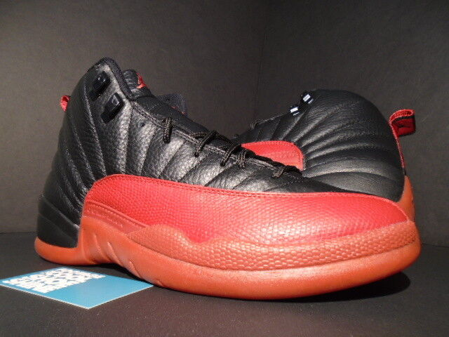 2018 Nike Jordan XII 12 Retro FLU Negro Air Rojo BRED FLU Retro GAME prohibidas 136001063 11 93e74f