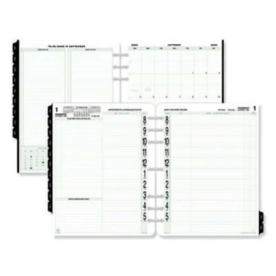 Day-timer 94010 Original Two-page-per-day Refill, 8 1/2 X 11, White/green, 2019