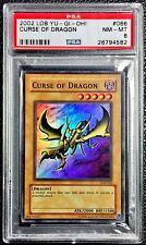 Yu-Gi-Oh! PSA 8 NM-MT 'Curse of Dragon' LOB-066 Super Rare LOW POP.
