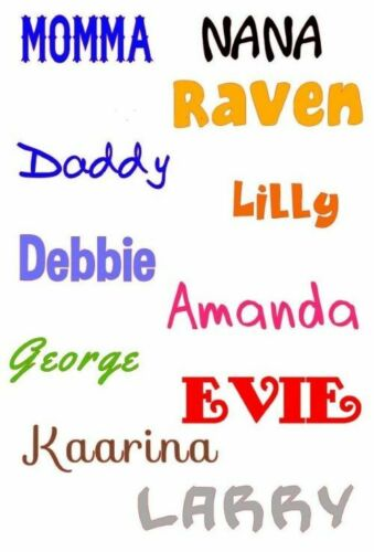 """3/"""" high Great for Cell Phones Custom Name Word  lettering Vinyl Decal  approx"""