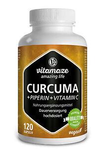 Curcuma-Kurkuma-Kapseln-Piperin-Curcumin-hochdosiert-Vitamin-C-Gelbwurzel