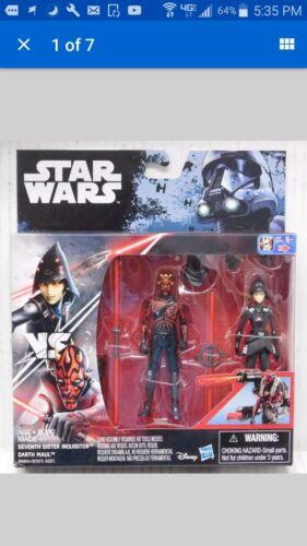 "Darth Maul vs Seventh Sister Star Wars 3.75/"" 2016 figure set Rouge One Rebels"