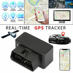 OBD2 GPS Tracker Real Time Vehicle Tracking Device GSM GPRS Car Truck Locator US