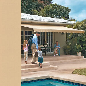 SunSetter Motorized Retractable Awning 18 x 10 ft. Outdoor ...