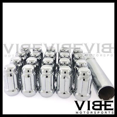 12MM X 1.25 12X1.25 CHROME SPLINE TUNER DRIVE WHEEL LUG NUTS QUANTITY 20 20