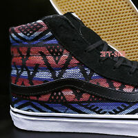 Vans Sk8-hi Slim Moroccan Geo Black White Men's 10 Skate Shoes//s74104.32