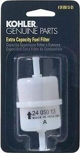 KOHLER 24 050 13-S1 Engine Fuel Filter 15 Micron With 1//4-Inch Inside Diameter