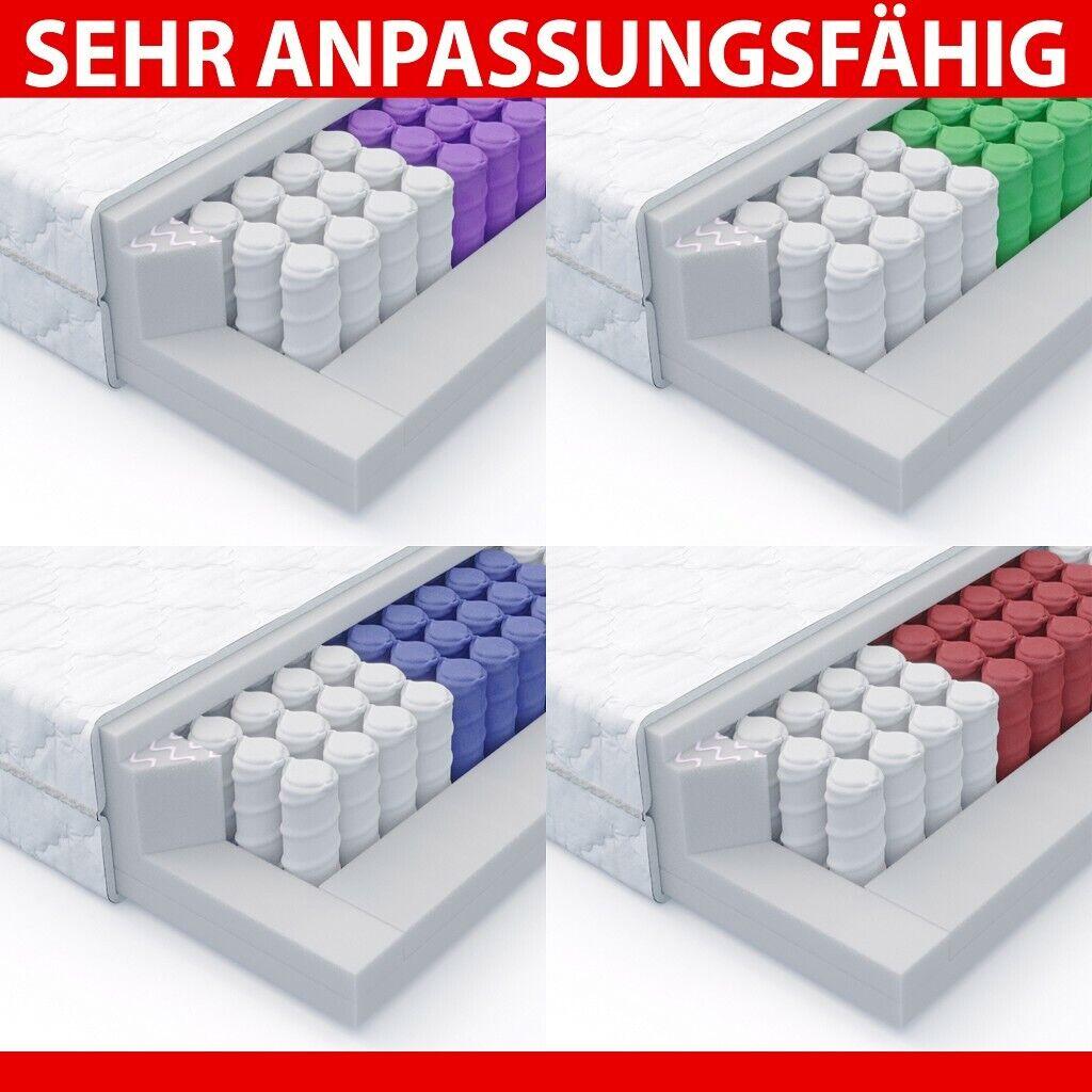 MSS® 7 Zonen Taschenfederkern Matratze Medic 120 x 200 cm