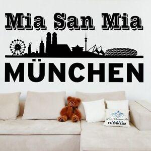 Brillant Fc Bayern Munchen Wall Sticker Decal Mia San Mia Transfert Football Munish-afficher Le Titre D'origine Les Consommateurs D'Abord