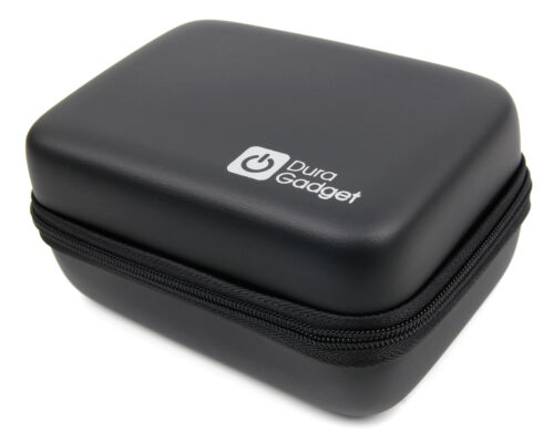 Black Hard EVA Camera Case w// Carabiner Clip for Sony FDR-X3000R Action Camera