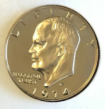 L-30-18 NOT FROM ROLL 1974-S EISENHOWER CLAD DOLLAR FROM PROOF SET