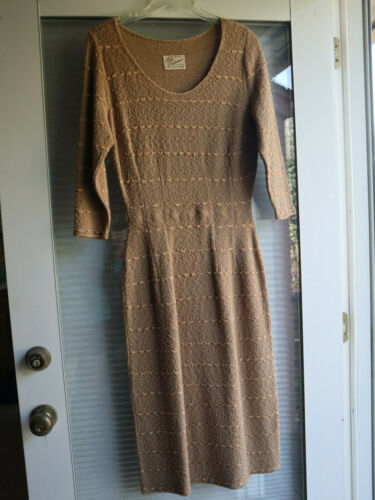 Vintage Womens Knit Dress 1940's-1950's Synderknit