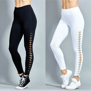 fd88dedd34a9b Image is loading UK-Womens-Lace-Up-Athletic-Gym-Yoga-Activewear-