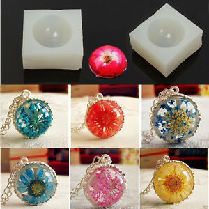 Details about Silicone DIY Crystal Making Mold Hemisphere Pendant Jewelry  Resin Casting Mold