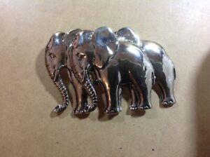 Twin-Elephants-Pewter-Colour-Belt-Buckle