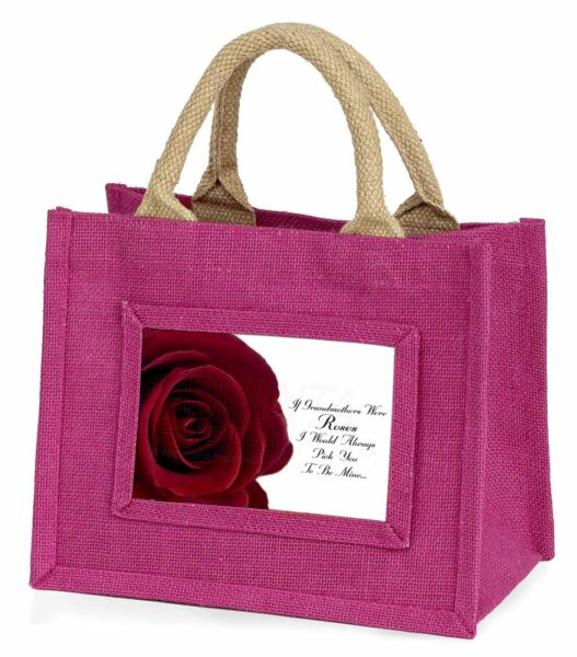 'if Grandmothers Were Roses' Little Girls Small Pink Shopping Bag Chr, Gra-r5bmp Ampia Selezione;