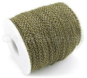 Cable Chain Spool - 330 Feet - Antique Bronze Color - 2x3mm Link - 100M 330 Ft