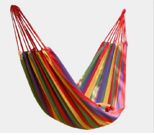 Single Rainbow Beach Garden Camping Hammock or Picnic Mat Blanket Bonus Bag