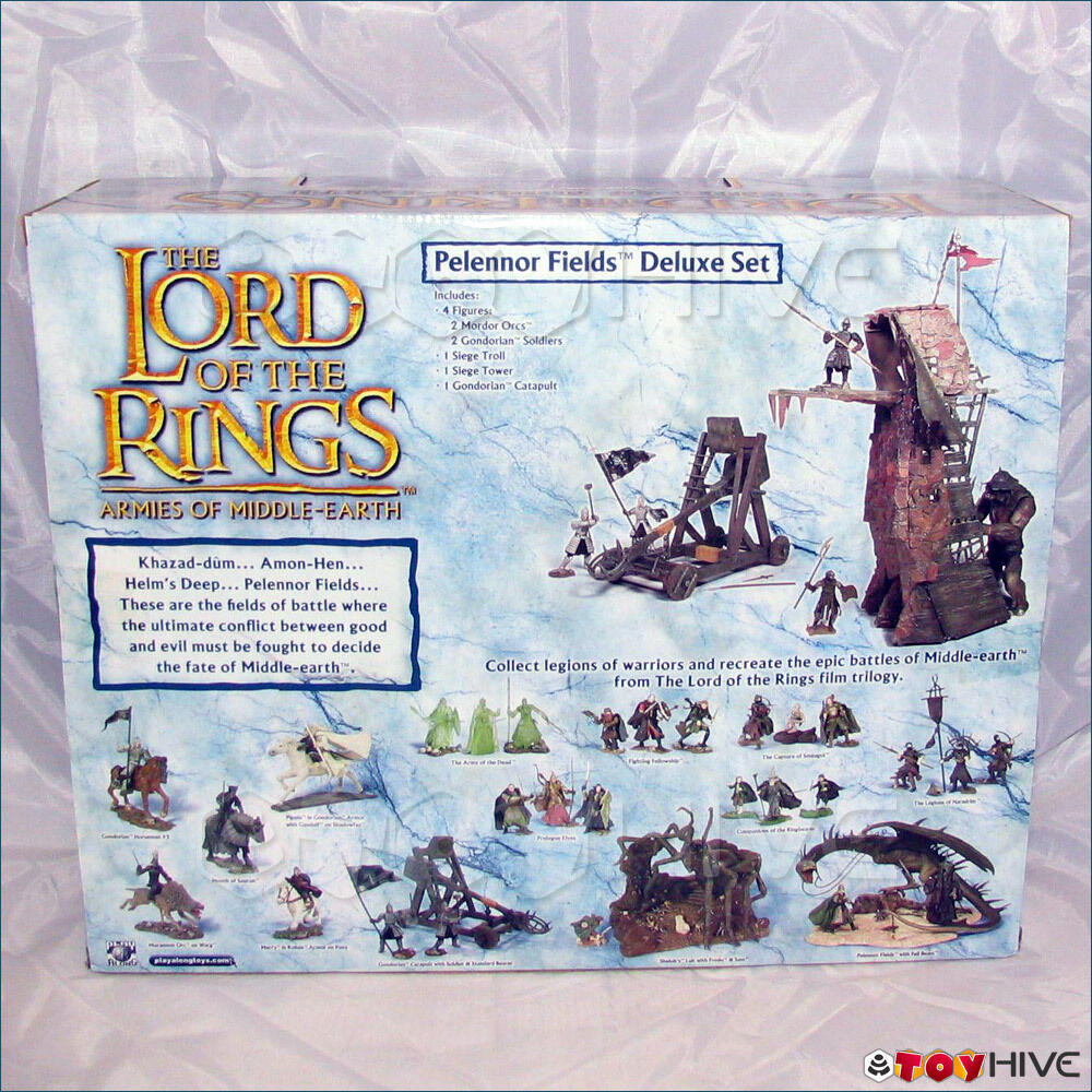 Lord of the Rings Rings Rings Pelennor Fields Deluxe Set LOTR AOME 155a18