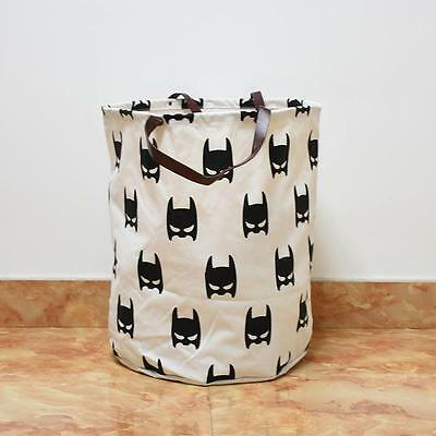 Kids Baby Toys Storage Canvas Bags Bear Batman Laundry Hanging Drawstring Bag RS