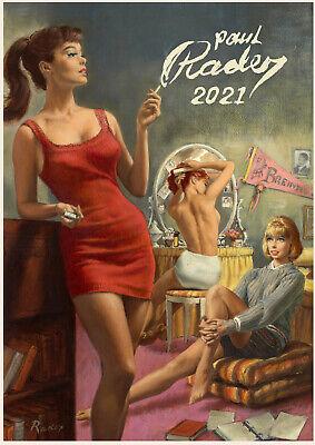 Vintage Man Action Pulp Fiction Pinup m3-3001 2021 Wall Calendar 12 pages A4