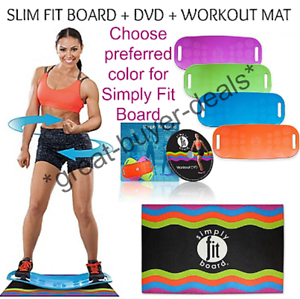 Simply Fit Board The Abs Legs Core Balance Board Includes