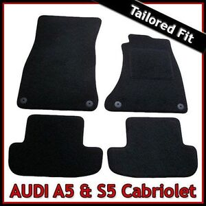 Audi-A5-Convertible-Mk1-2007-2016-Tailored-Fitted-Carpet-Car-Floor-Mats-BLACK