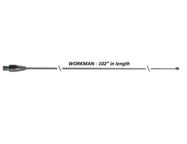 Workman 102sswa 102 Inch Cb Ham Radio Antenna Stainless Steel Whip For Sale Online Ebay