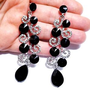 Chandelier-Earrings-Rhinestone-Black-Crystal-3-2-in