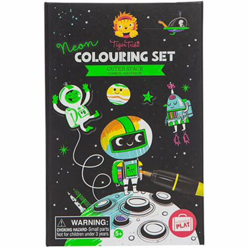 Tiger Tribe Colouring Sets Outer Space Arts and Crafts for Children