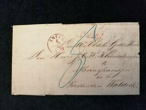 Vorphilatelie-Altdeutschland-Brief-Faltbrief-von-1852-Nr-5
