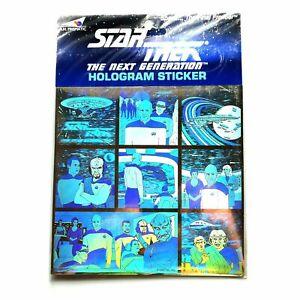 Star-Trek-The-Next-Generation-Hologram-3D-Sticker-made-in-England-1992