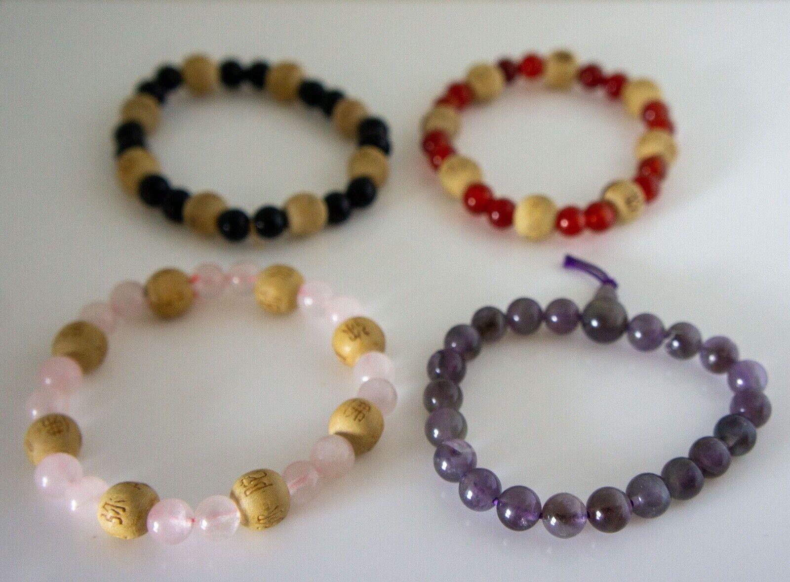 Beaded Bracelets Stack, Feng Shui, 4PCS - image 3