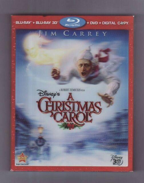 (Blu-ray) A Christmas Carol / Disney / Jim Carrey / Blu-ray 3D / 4 Disc | eBay