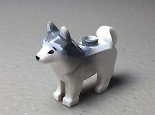 LEGO Husky Dog with Black Eyes Gray Ears & Back Authentic LEGO Dog - NEW