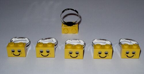10 FOR $7.50  LEGO  RING PARTY FAVOR PRIZES TEACHER REWARDS GOODY  BAG FILLERS