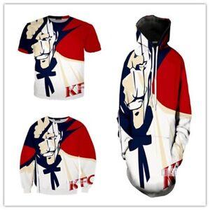 New Fashion Women//Men KFC Green Leaf 3D Print Casual Hoodies Sweatshirt S119