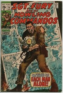 Marvel-Comics-Sgt-Fury-and-his-Howling-Commandos-74-VG-Jan-1970