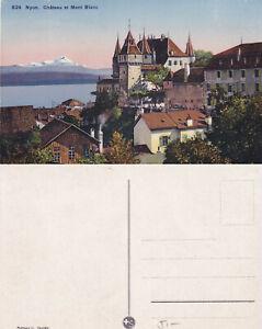 Nyon AK Chateau de Mont Blanc Abschürfungen Ecken/Kanten stampsdealer