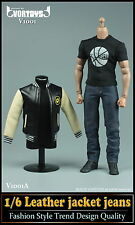 VORTOYS 1/6 Men 's Leather Jacket Leisure Clothing Suits V1001A F 12'' Male Body