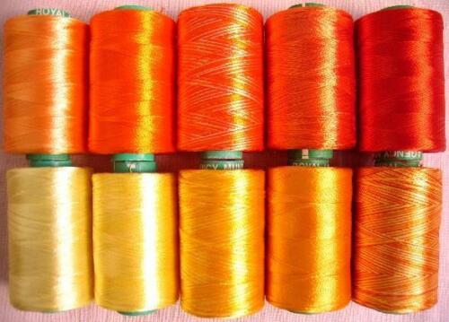 10 SUNRAYS RAYON Hand Machine Emb Thread LOW PRICE GOOD QUALITY 984Y RSP3 #ADECA