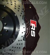 AUDI RS Premium Cast Brake Caliper Decals Stickers TT RS3 RS4 RS5 RS6 Quattro