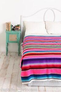 "X-Large Authentic Mexican Serape Blanket 84"" x 60"" Saltillo Southwestern SW211"