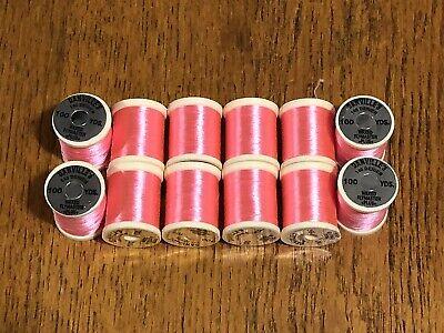 12 Spools Danville 3/0 Fl Pink Fly Tying Thread Meer Kortingen Verrassingen