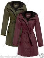 New WATERPROOF Coat Ladies Raincoat Women Hooded Jacket Size 10 12 14 16 18 20