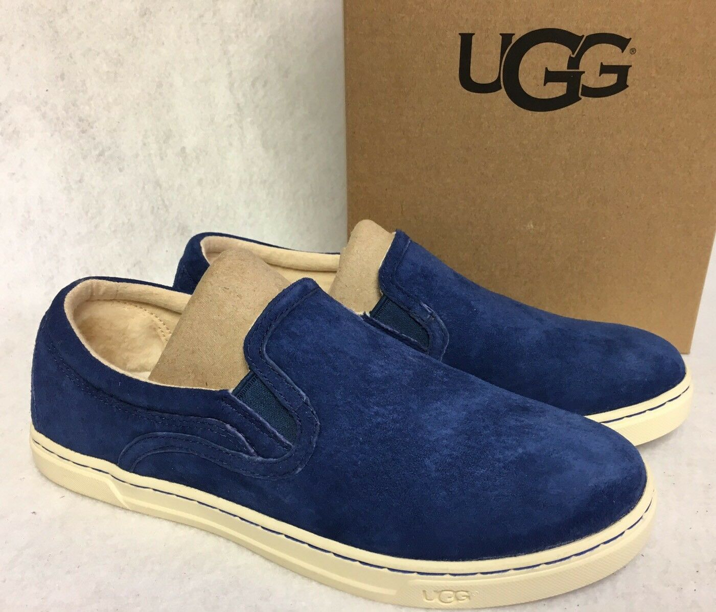 Ugg Australia - Wilde Wildleder-Slip-on-Sneakers aus Leder Marino Blue Loafers 1006737