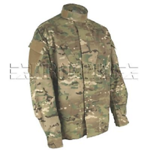US Army OCP Tactical Multicam Combat ACU Battle Rip Military coat jacket Large