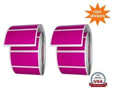 Royal Green Rectangle Labels In Pink 157 X 075 40mm X 19mm 1000 Pack Rolls