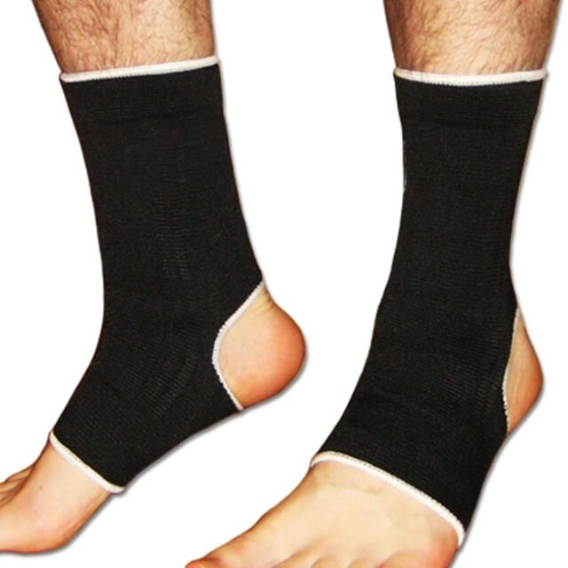 1 x Black Elasticated Ankle Support Foot Bandage Brace Guard Wrap Protector Gym