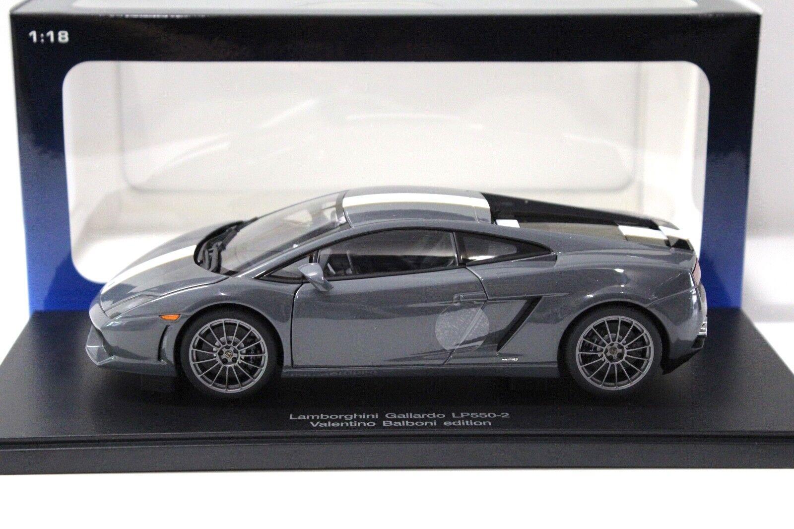 1 18 Autoart Lamborghini Gallardo lp550-2 Balboni gris New chez Premium-modelcars